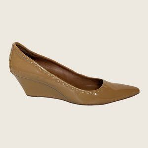 Donald J Pliner Patent Leather Pointed Toe Wedges